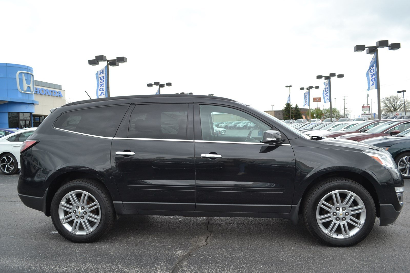 traverse suv carfax chevrolet park lt used orchard york vehicle new details automatic