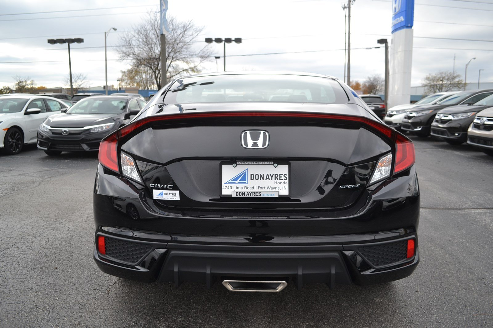 New 2019 Honda Civic Coupe Sport 2dr Car Near Fort Wayne 19340