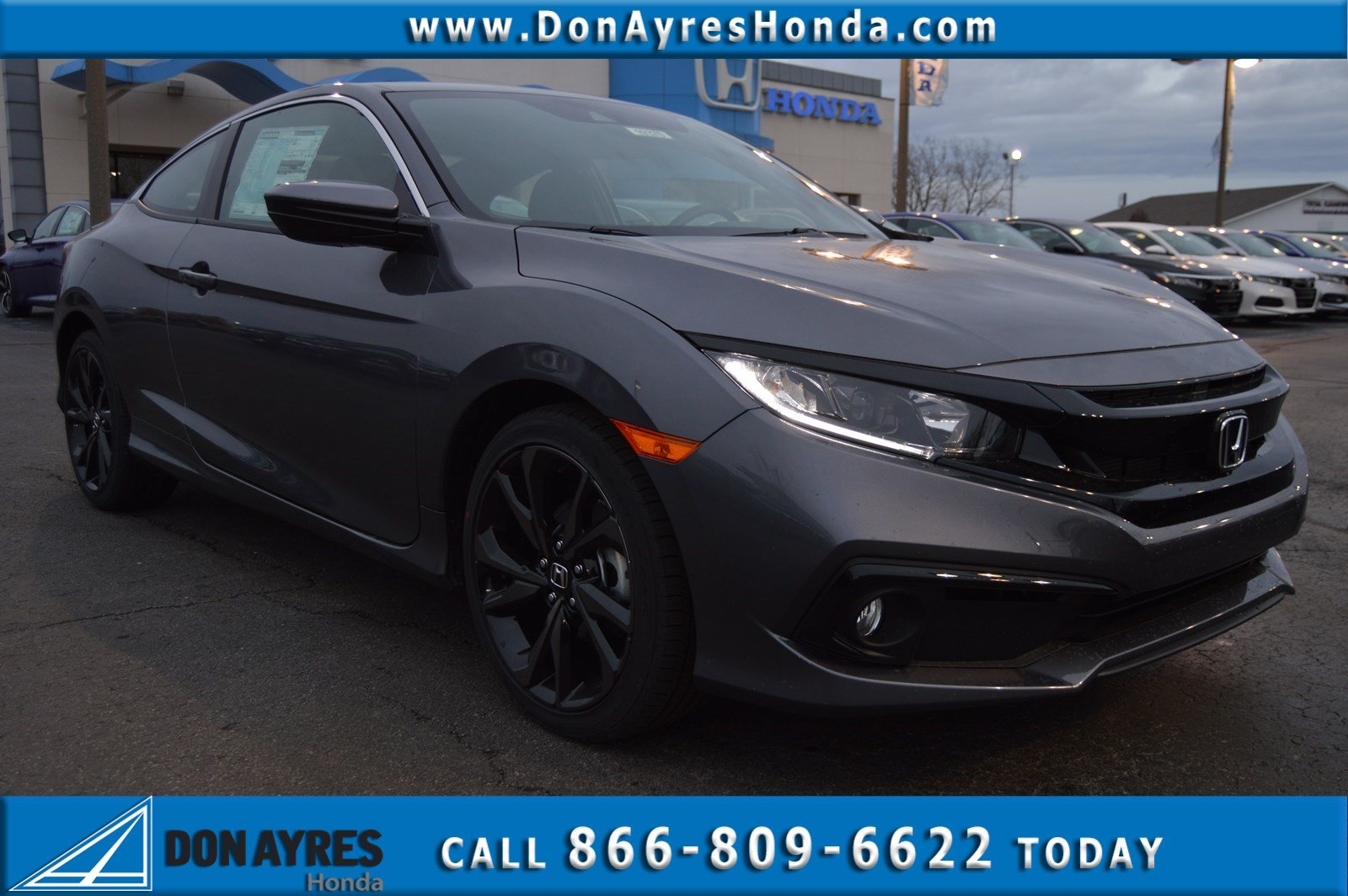 New 2019 Honda Civic Coupe Sport 2dr Car Near Fort Wayne 19370