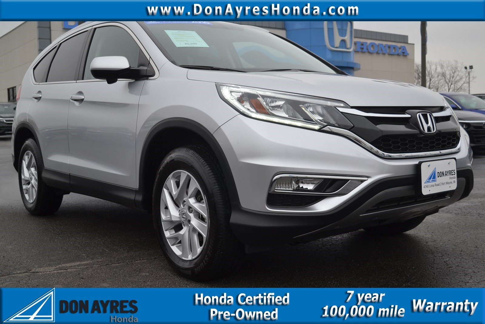 Certified Pre Owned 2016 Honda Cr V Ex L