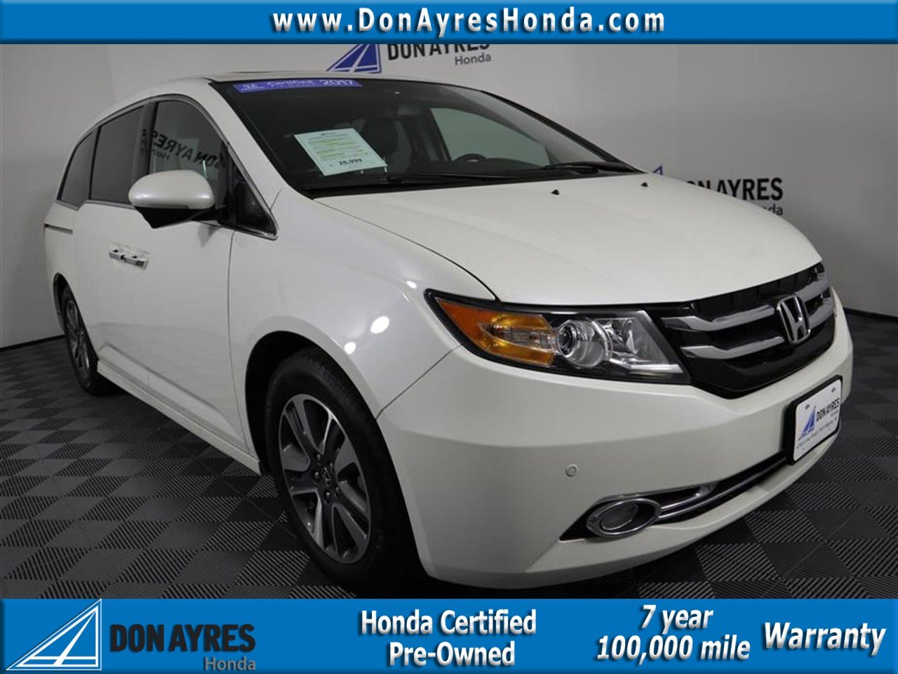 Certified Pre Owned 2017 Honda Odyssey Touring 4d Penger Van Near Fort Wayne P90228 Don Ayres
